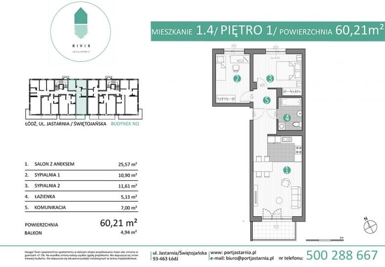 Apartament nr. 1.4